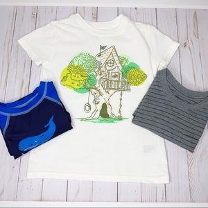 CAT & JACK Bundle - 3 Boys Short Sleeve Tops Sz 5